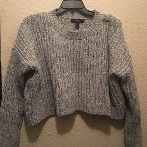 Forever 21 heather gray crop sweater